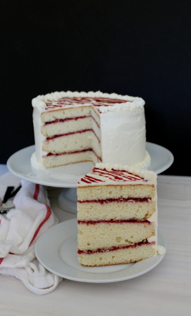 Raspberry and White Chocolate Cake Plus Enter to Win a KitchenAid Mixer