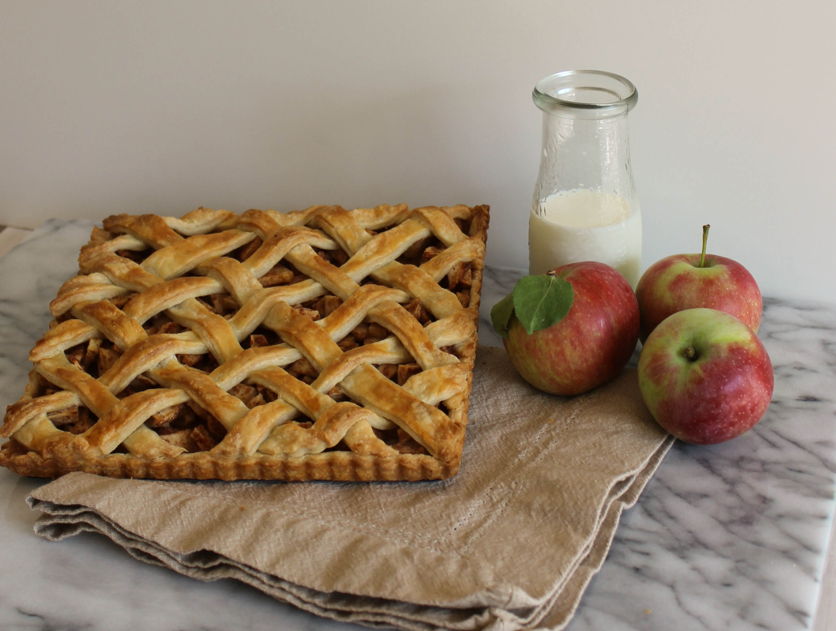 This apple tart features warm, cinnamon sprinkled apple, wrapped in a ...