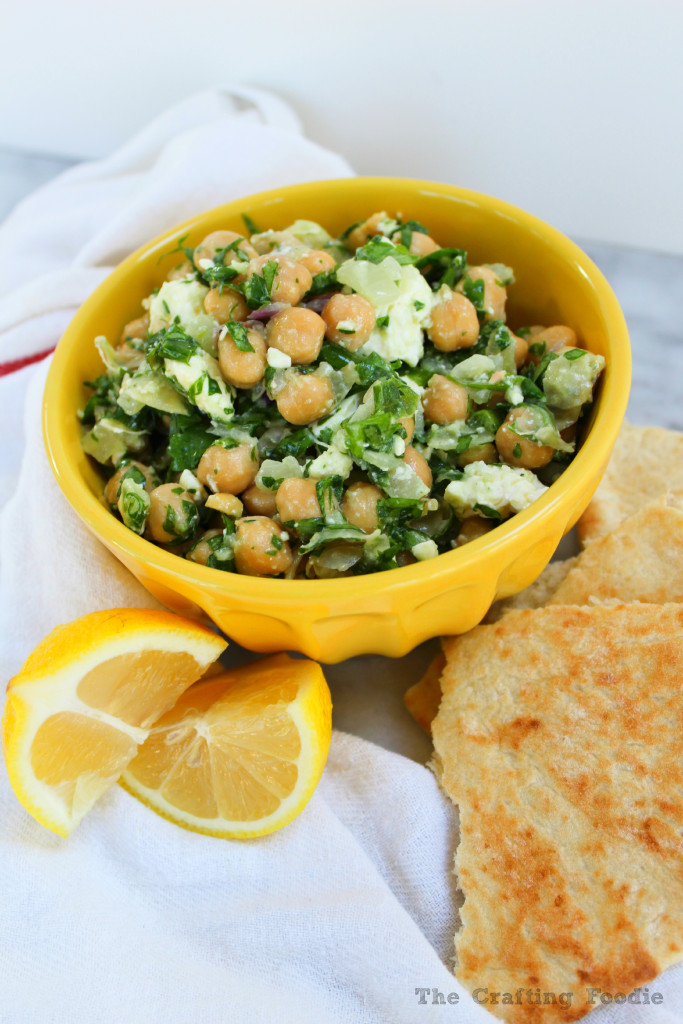 Chickpea Salad with Sauteed Onions and Garlic|The Crafting Foodie