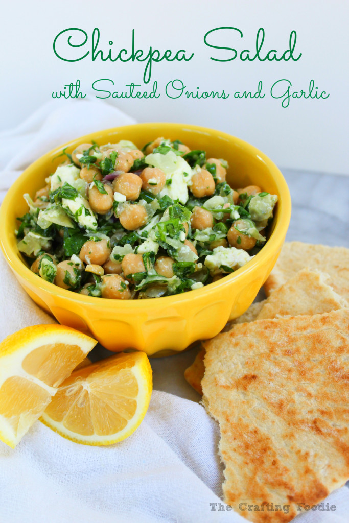 Chickpea Salad with Sauteed Onion and Garlic|The Crafting Foodie