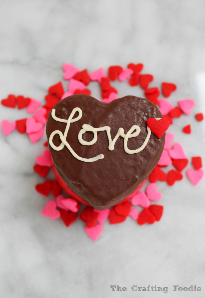 Cream Filled Chocolate Mini-Heart Cakes|The Crafting Foodie