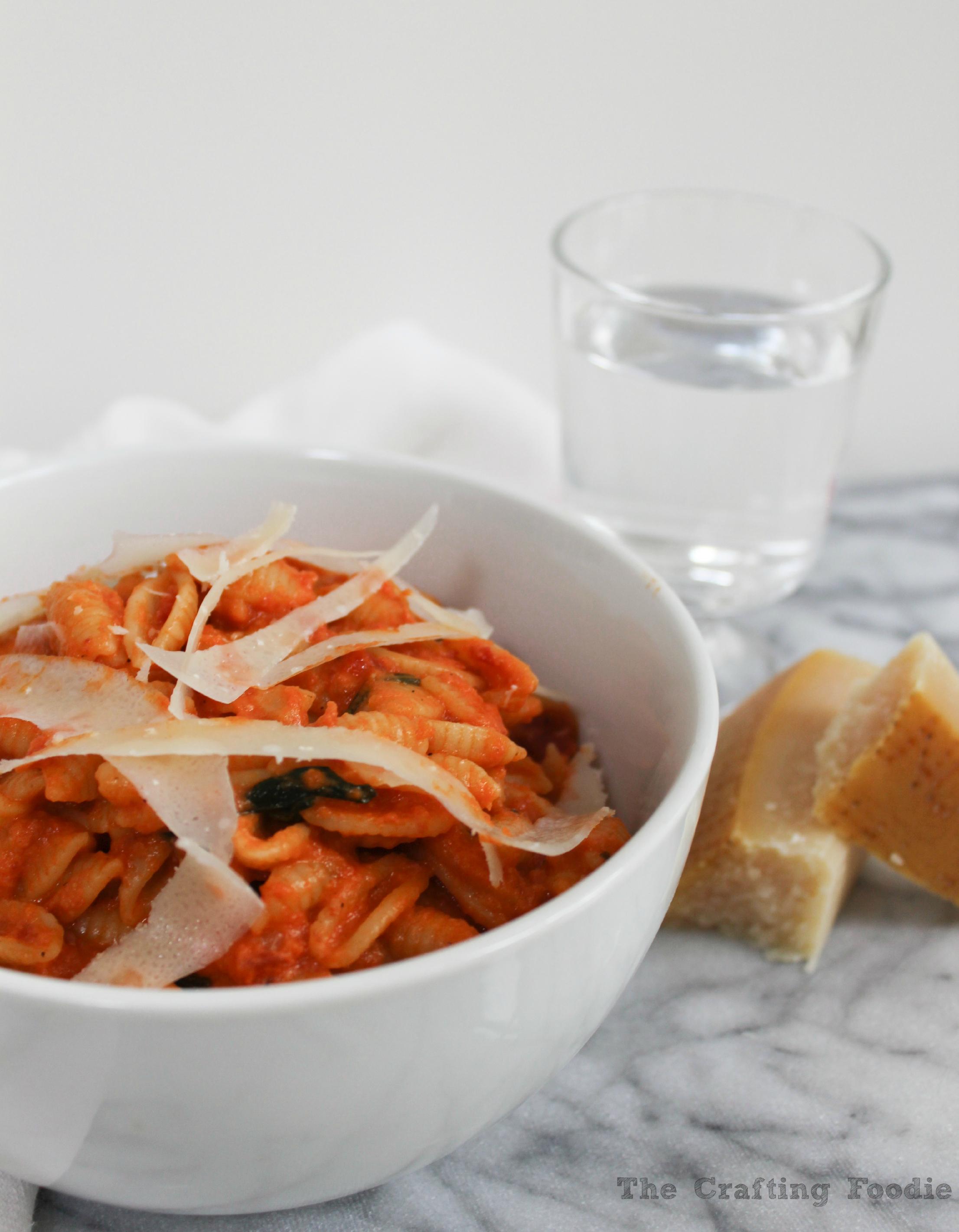 Creamy Tomato Pasta Sauce The Crafting Foodie