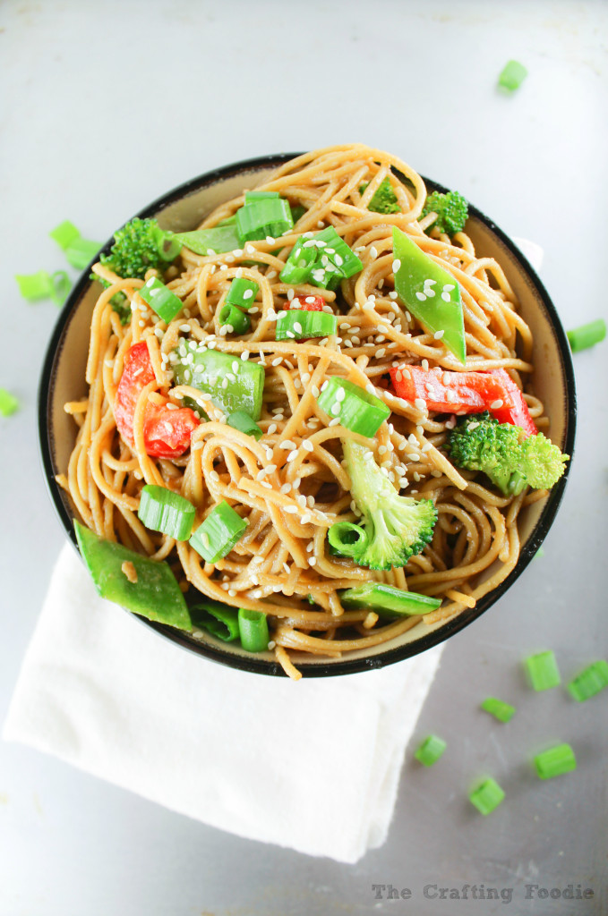 Peanut Butter Noodles|The Crafting Foodie