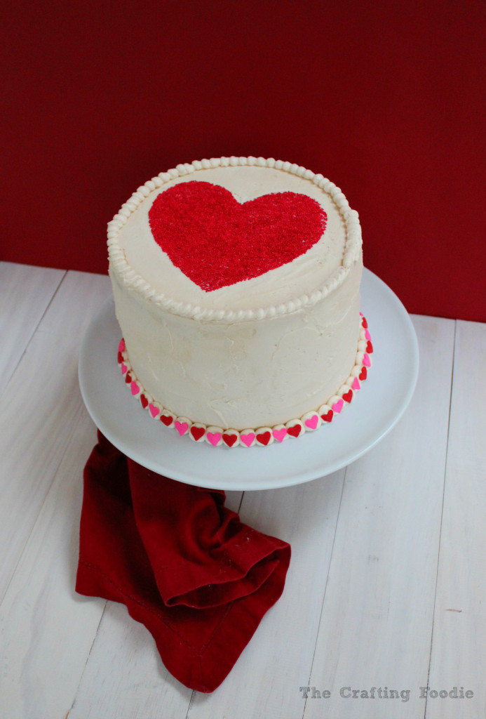 Valentine's Day Red and Pink Velvet Cake