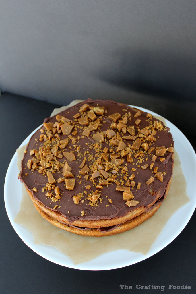 Brown Butter Banana Toffee Cake|The Crafting Foodie