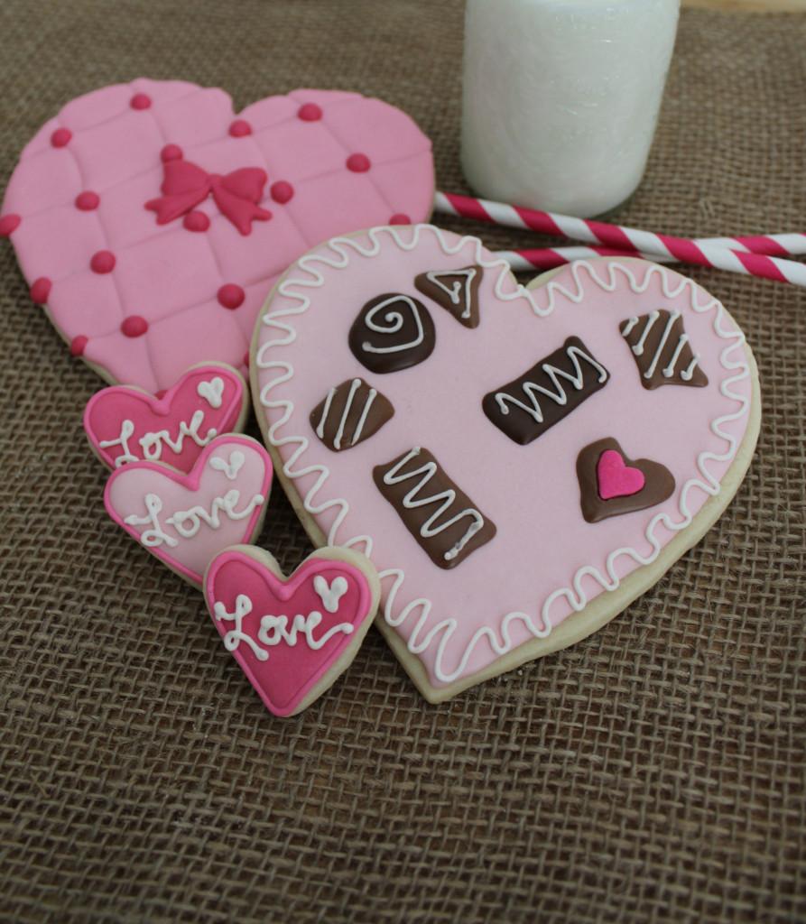 Chocolate Box Sugar Cookies|The Crafting Foodie