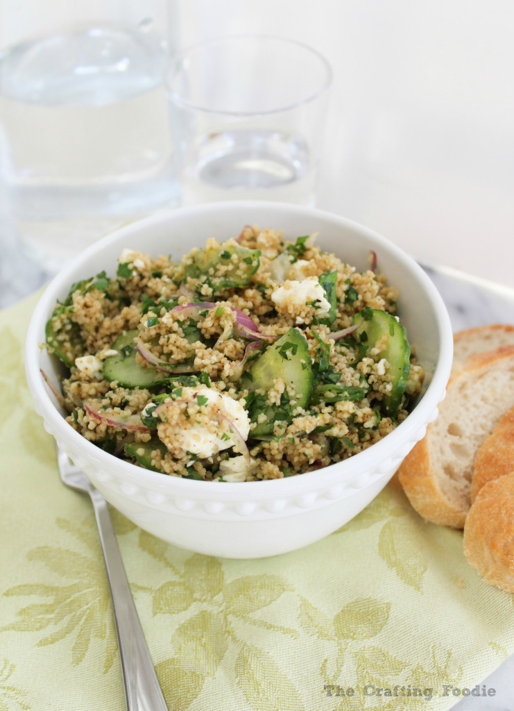 Light Couscous with Cucumbers and Onions|The Crafting Foodie