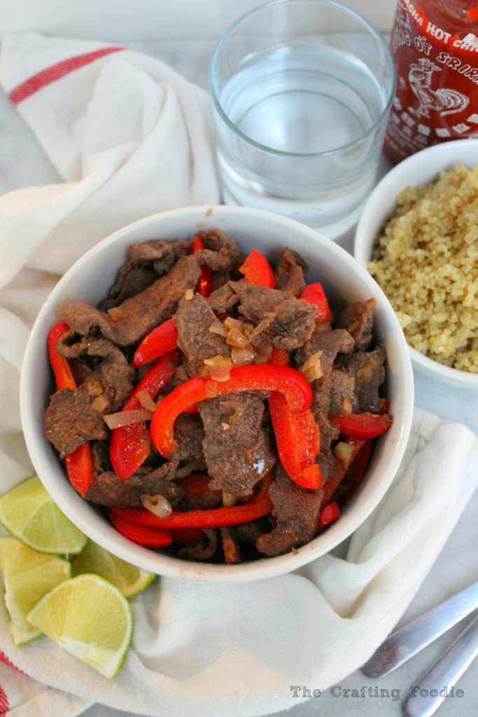 Thai Style Beef Stir Fry|The Crafting Foodie
