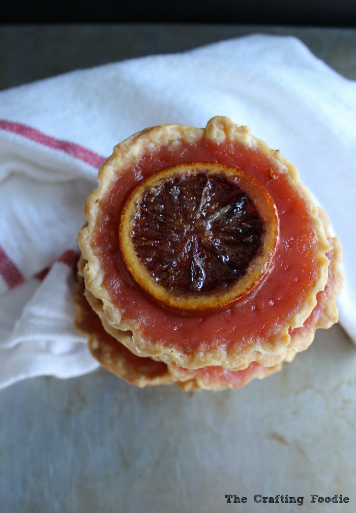 Pi Day Blood Orange Pies|The Crafting Foodie