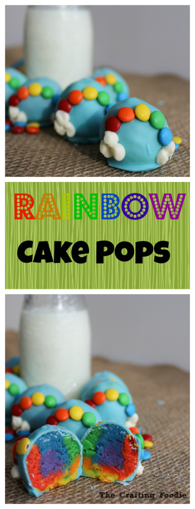 Rainbow Cake Pops St. Patrick's Day|The Crafting Foodie