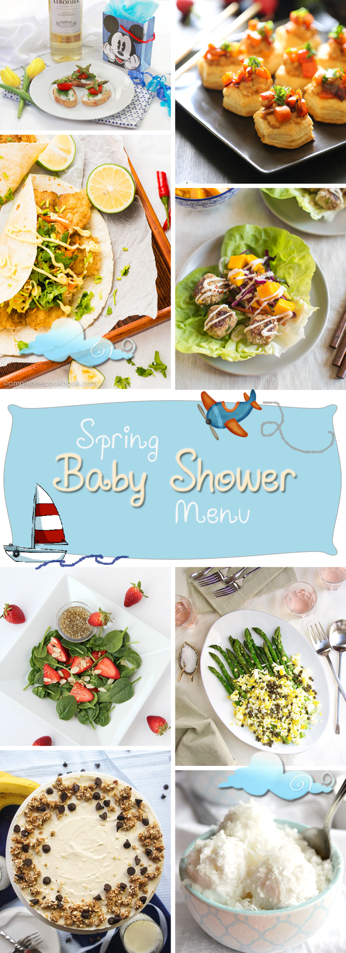 Baby Shower Menu and a Giveaway|The Crafting Foodie
