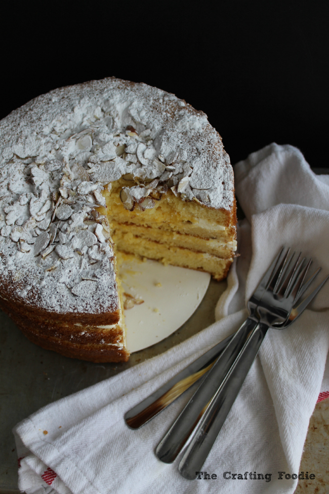 Meyer Lemon Cake with Lemon Curd|The Crafting Foodie