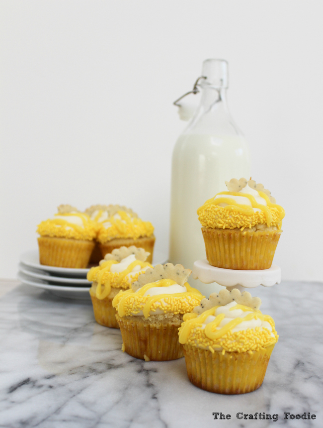Fresh Lemon Cupcakes|The Crafting Foodie via Tastes of Lizzy T