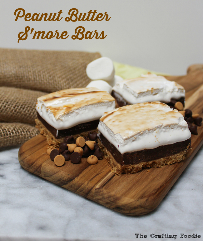 Peanut Butter S'more Bars|The Crafting Foodie