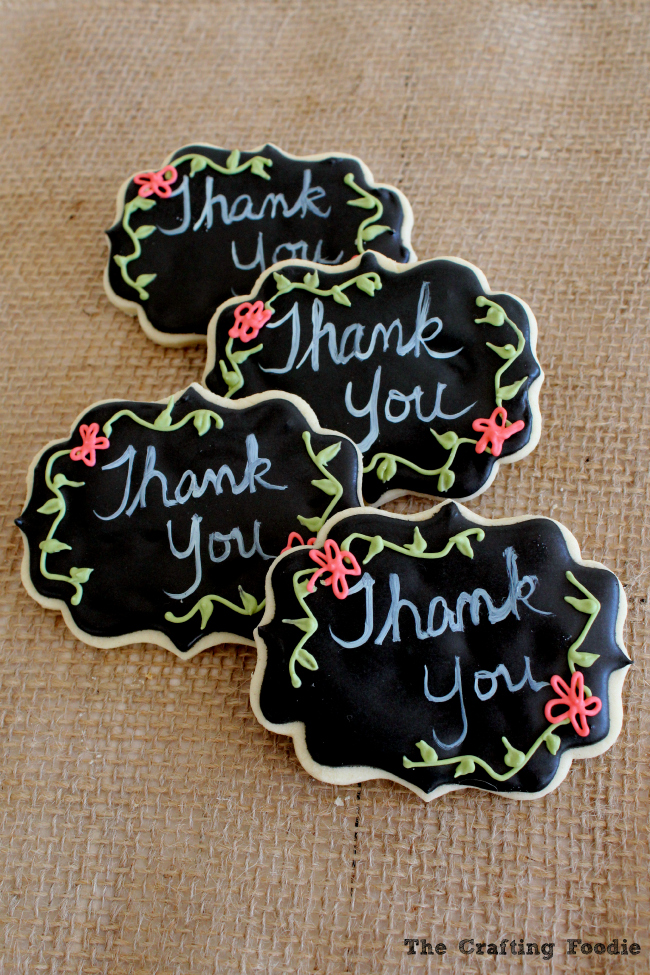 Chalkboard Teacher Appreciation Cookies|The Crafting Foodie