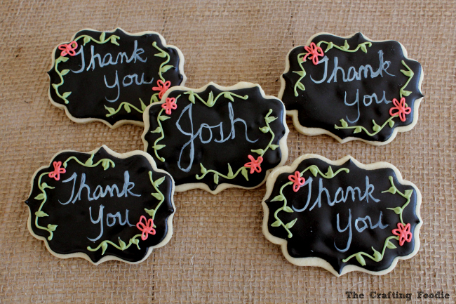 Chalkboard Teacher Cookies for the End of the Year|The Crafting Foodie