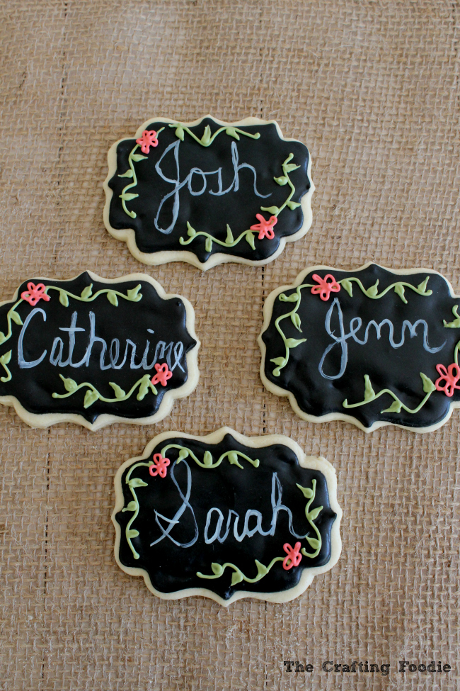 Chalkboard Cookies for Teacher Appreciation|The Crafting Foodie