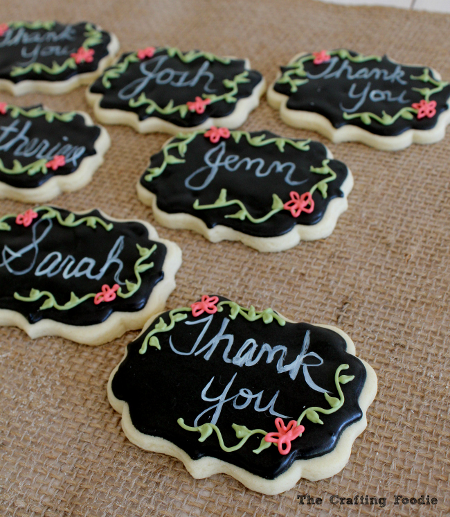 Chalkboard Cookies|The Crafting Foodie