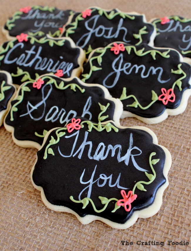 Chalkboard Teacher Cookies|The Crafting Foodie