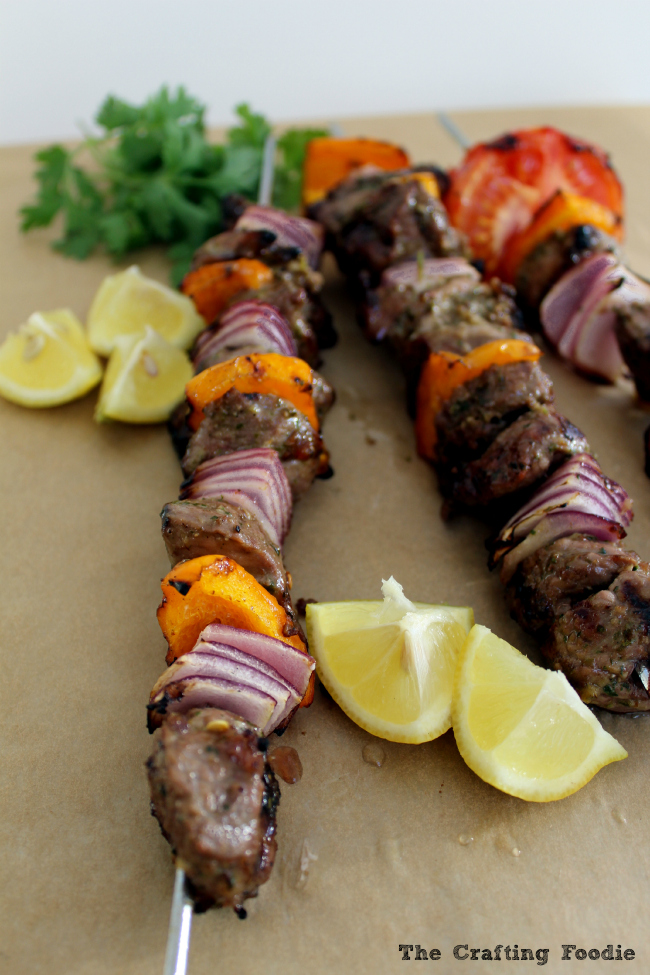 Spiced Lamb Kabobs|The Crafting Foodie