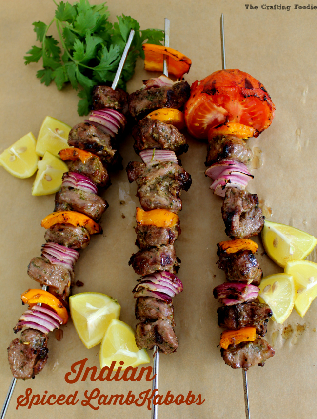 Indian Spiced Lamb Kabobs|The Crafting Foodie