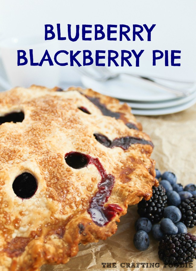 Blueberry Blackberry Pie|The Crafting Foodie