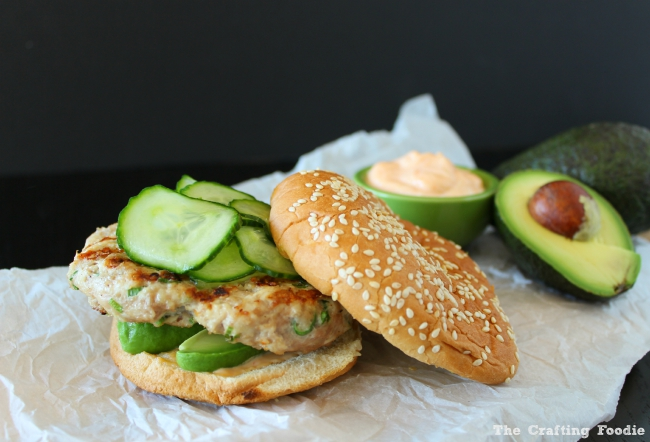 Asian Inspired Turkey Burgers with Pickled Cucumbers|The Crafting Foodie
