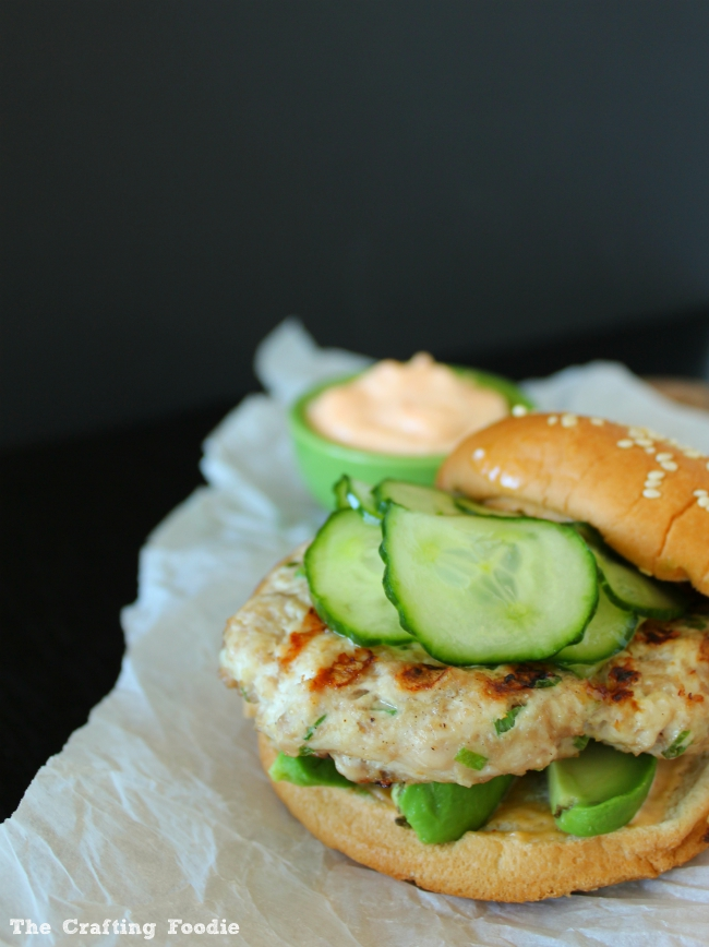 Asian Inspired Turkey Burgers with Creamy Hot Sauce|The Crafting Foodie