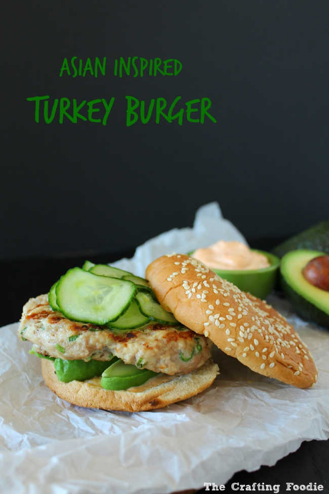 Asian Inspired Turkey Burgers|The Crafting Foodie