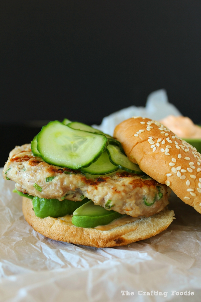 Healhty Asian Inspired Turkey Burgers|The Crafting Foodie