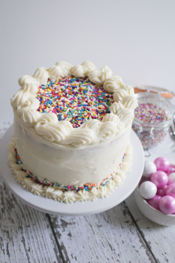 Vanilla Bean Funfettie Cake|The Crafting Foodie