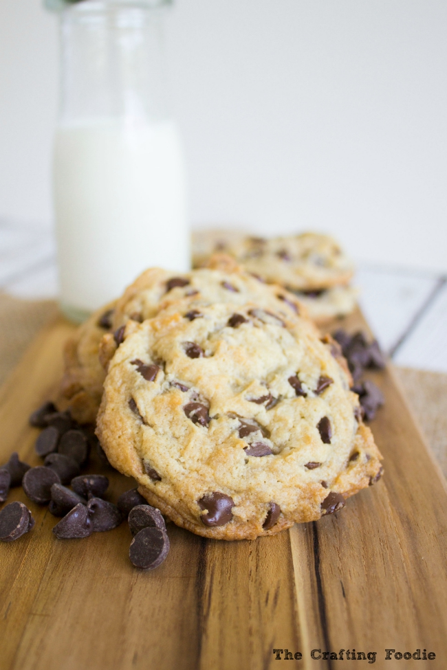 Soft, Chewy, Egg-Free Chocolate Chip Cookies|The Crafting Foodie