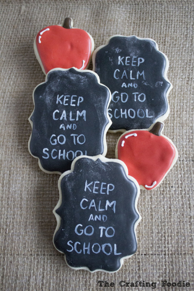 Back to School Themed Decorated Cookies|The Crafting Foodie