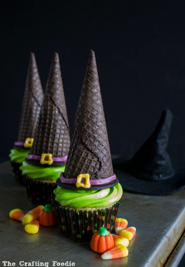 Easy Witch's Hat Cupcakes|The Crafting Foodie