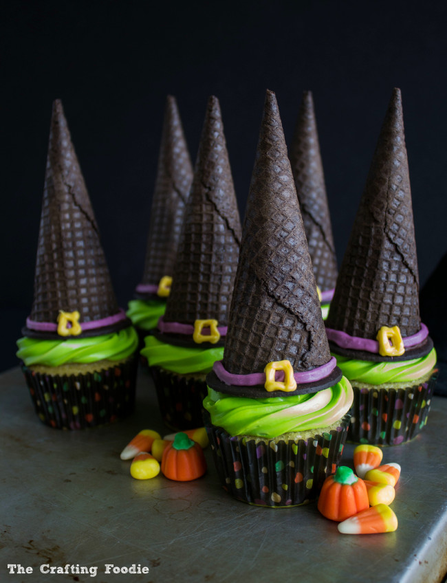 Witch's Hat Cupcakes|The Crafting Foodie