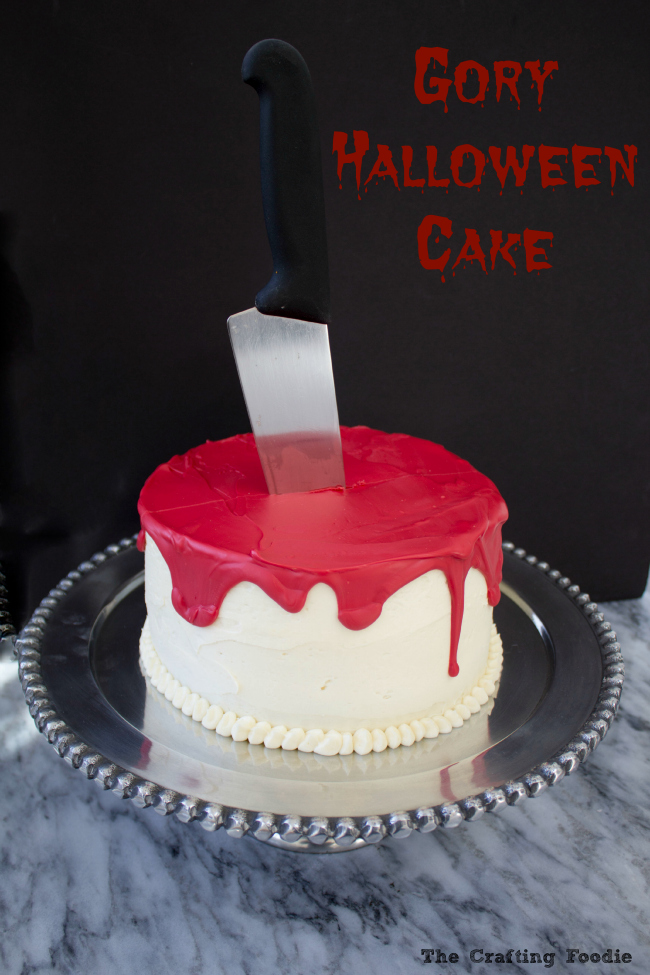 Gory Halloween Red Velvet Cake|The Crafting Foodie