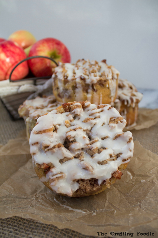Apple Fritter Cakes with Apple Cider Glaze|The Crafting Foodie