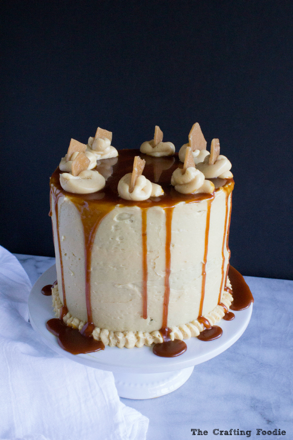 Brown Butter Cake with Salted Caramel The Crafting Foodie
