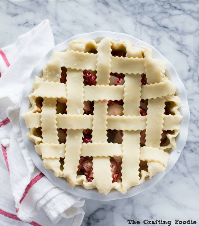 Pear Cranberry Pie with All-Butter Crust|The Crafting Foodie