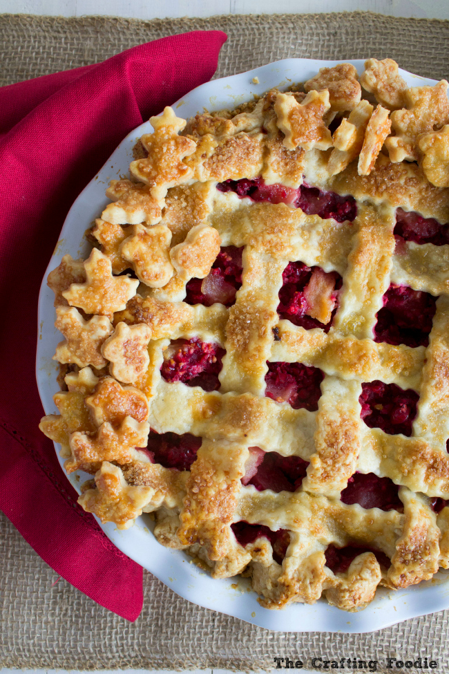 Pear Cranberry Pie with All-Butter Double Crust|The Crafting Foodie