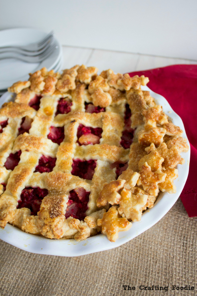 Pear Cranberry Pie with Fresh Ginger|The Crafting Foodie