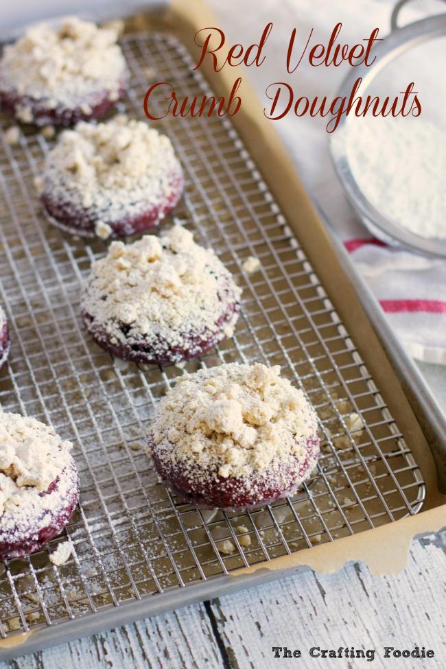 Red Velvet Crumb Doughnuts
