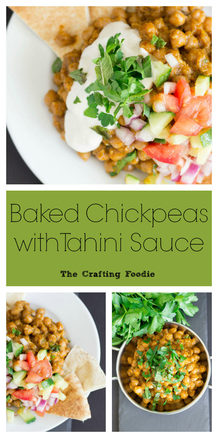 Baked Chickpea Collage PinterestThe Crafting Foodie