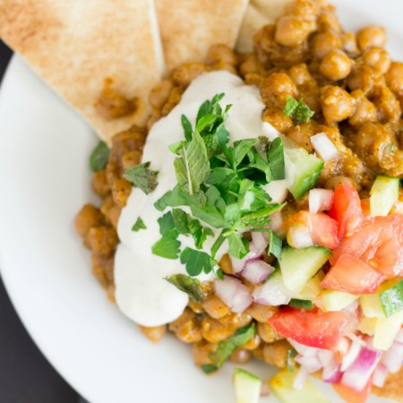 Baked Chickpeas with Tahini SauceThe Crafting Foodie
