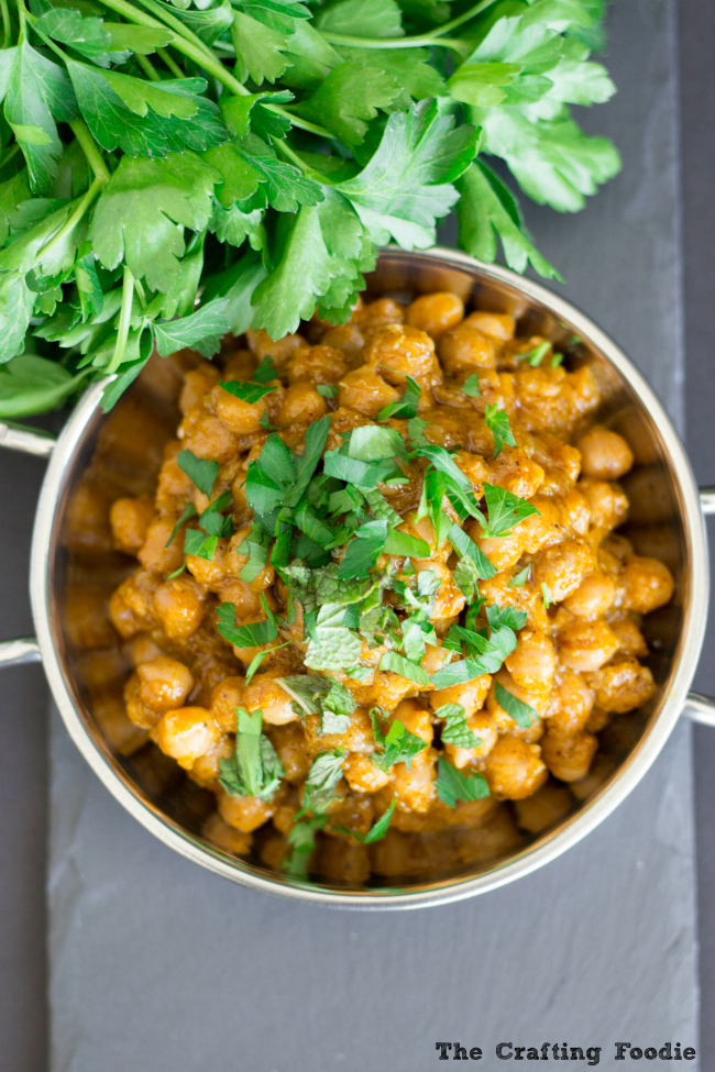 Baked Chickpeas_The Crafting Foodie