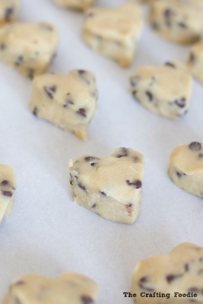 Chocolate Chip Cookie Dough Truffles for Valentine's Day