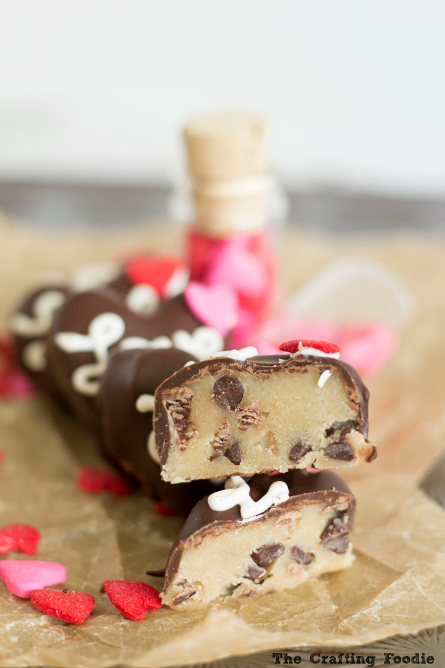 Chocolate Chip Cookie Truffles for Valentine's DayThe Crafting Foodie