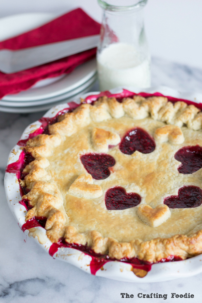 Raspberry Pie for Valentine's Day_The Crafting Foodie