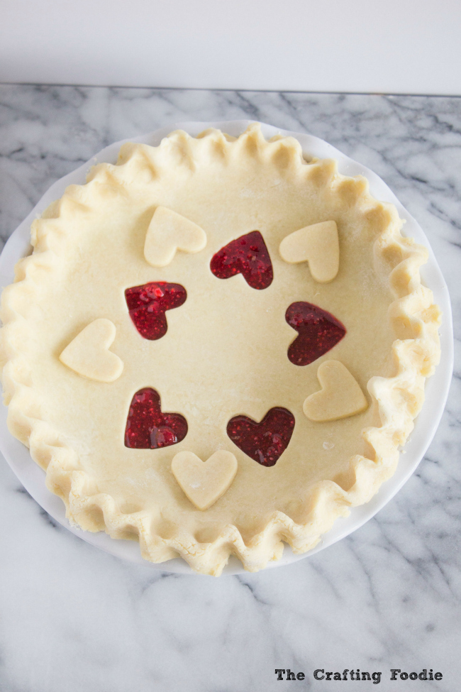 Valentine's Day Raspberry PieThe Crafting Foodie
