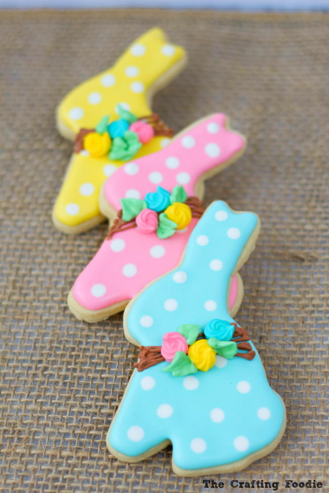 Bunny Easter Cookies with RI TransfersThe Crafting Foodie